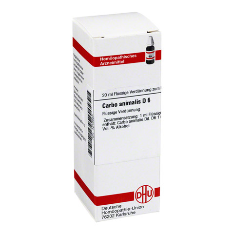 CARBO ANIMALIS D 6 Dilution 20 Milliliter N1