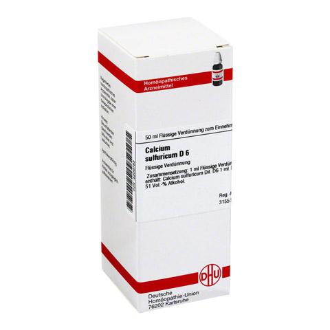 CALCIUM SULFURICUM D 6 Dilution 50 Milliliter N1