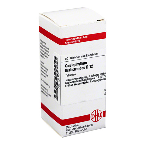 CAULOPHYLLUM THALICTROIDES D 12 Tabletten 80 Stück N1
