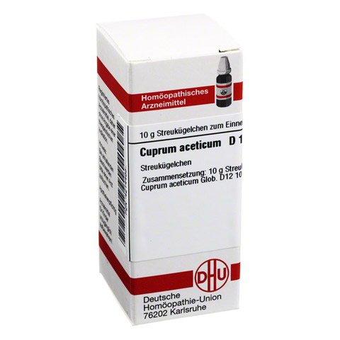 CUPRUM ACETICUM D 12 Globuli 10 Gramm N1