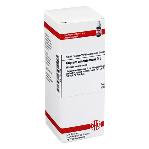 CUPRUM ARSENICOSUM D 6 Dilution 50 Milliliter N1