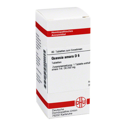 QUASSIA D 6 Tabletten 80 Stück N1