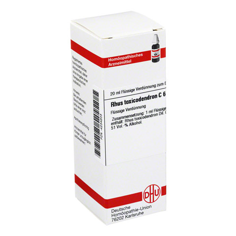 RHUS TOXICODENDRON C 6 Dilution 20 Milliliter N1