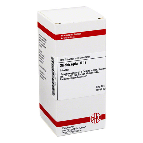 STAPHISAGRIA D 12 Tabletten 200 Stück N2