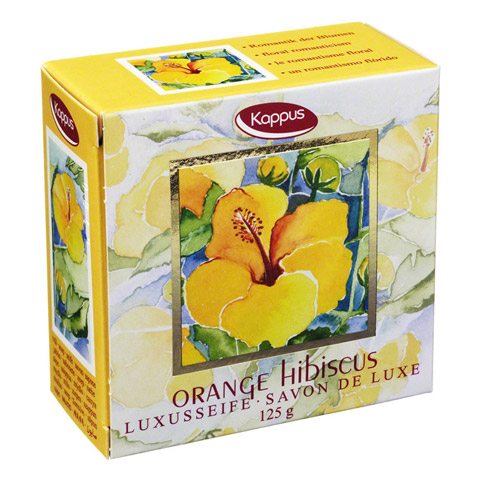 KAPPUS Orange Hibiscus Seife 125 Gramm