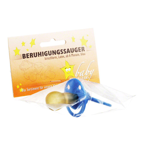 BERUHIGUNGSSAUGER Kirschf.Lat.ab 6 M.blau 1 Stück