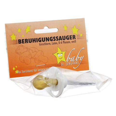 BERUHIGUNGSSAUGER Kirschf.Lat.0-6 M.weiß 1 Stück