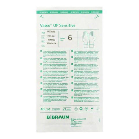 VASCO OP Sensitive Handsch.steril puderfrei Gr.6,0 2 Stück