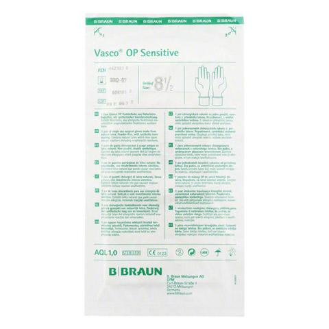 VASCO OP Sensitive Handsch.steril puderfrei Gr.8,5 2 Stück