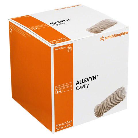 ALLEVYN Cavity 2,5x9 cm hydrozell.Kis.f.tiefe Wun. 10 Stück