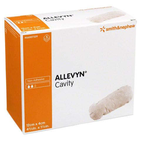 ALLEVYN Cavity 4x12 cm hydrozell.Kis.f.tiefe Wun. 5 Stück