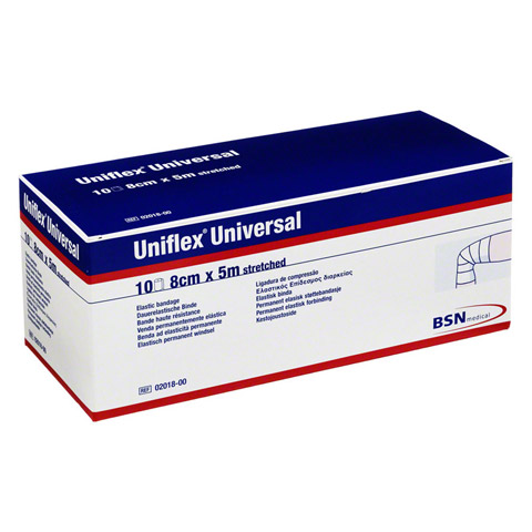 UNIFLEX Universal Binden 8 cmx5 m Zellglas weiß 10 Stück