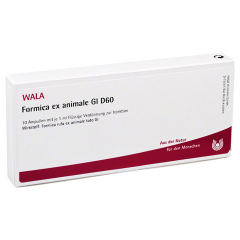 FORMICA EX animale GL D 60 Ampullen 10x1 Milliliter N1