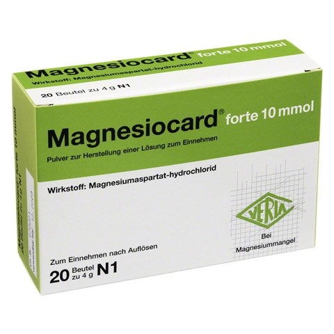 Magnesiocard forte 10mmol 20 Stück N1