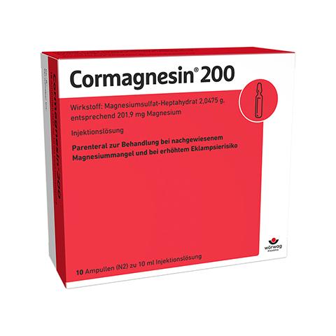 CORMAGNESIN 200 Ampullen 10x10 Milliliter N2