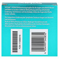 SYSTANE Hydration Benetzungstropfen für die Augen + gratis Systane Taschentücher 3x10 Milliliter - Rückseite
