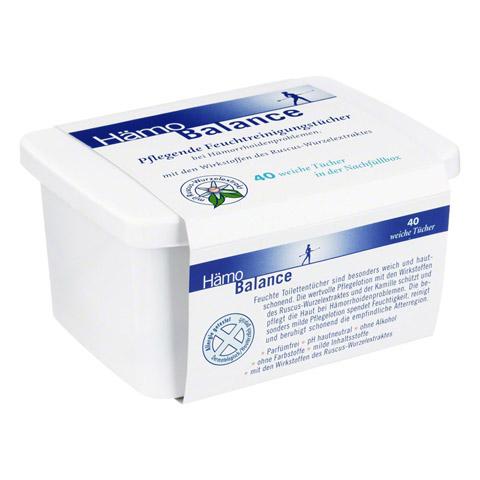 HÄMO BALANCE Pflegende Reinigungstücher Box 40 Stück