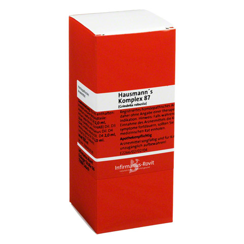 HAUSMANN KOMPLEX 87 Grindelia robusta Tropfen 100 Milliliter N2