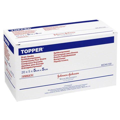 TOPPER Schlitzkompr.5x5 cm steril 20x5 Stück
