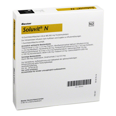 SOLUVIT N Plv.f.e.Konz.z.Her.e.Infusionslösung 10x10 Milliliter N2