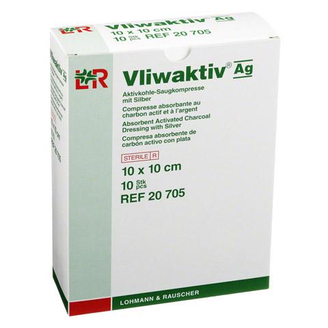 VLIWAKTIV AG Aktivkohle Saugkomp.m.Silber 10x10 cm 10 Stück