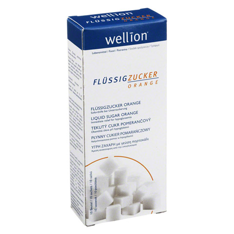 WELLION Flüssigzucker Orange Beutel 10x13 Milliliter