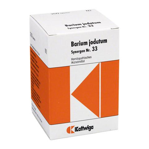 SYNERGON KOMPLEX 33 Barium jodatum Tabletten 200 Stück