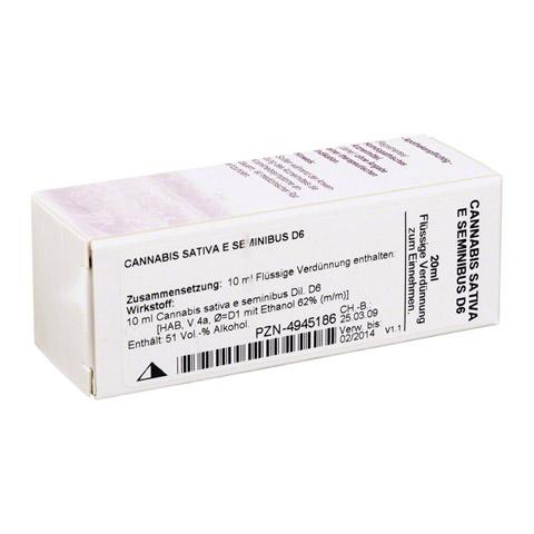 CANNABIS SATIVA e seminibus D 6 Dilution 20 Milliliter N1