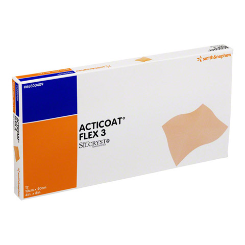 ACTICOAT Flex 3 10x20 cm Verband 12 Stück