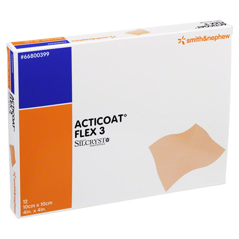 ACTICOAT Flex 3 10x10 cm Verband 12 Stück