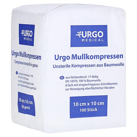 URGO MULLKOMPRESSEN 10x10 cm unsteril 100 Stück