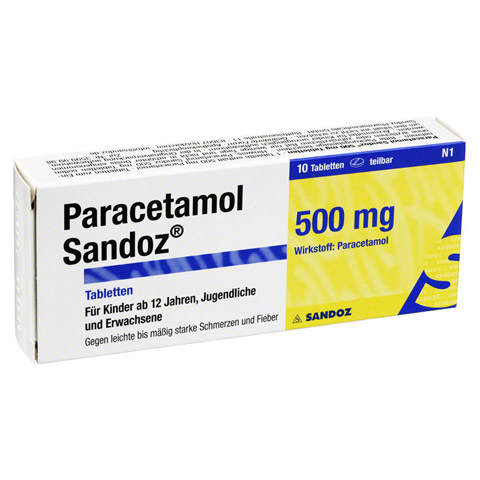PARACETAMOL Sandoz 500 mg Tabletten 10 Stück N1 online