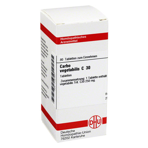 CARBO VEGETABILIS C 30 Tabletten 80 Stück