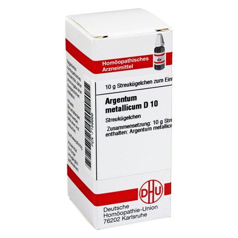 ARGENTUM METALLICUM D 10 Globuli 10 Gramm N1