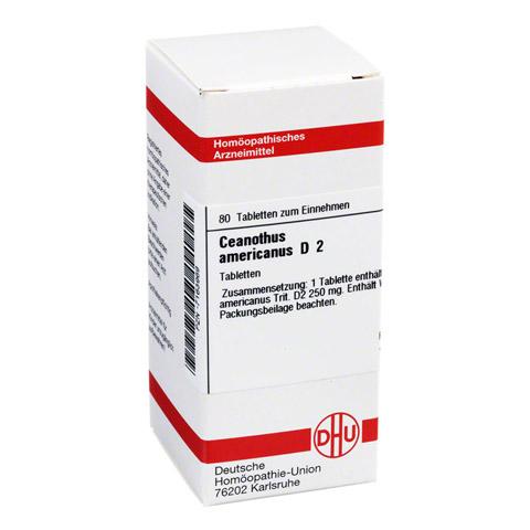 CEANOTHUS AMERICANUS D 2 Tabletten 80 Stück N1