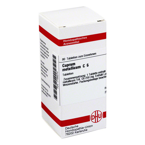 CUPRUM METALLICUM C 6 Tabletten 80 Stück N1