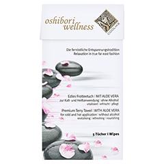 OSHIBORI Wellness 5 Erfrischungstuch aus Frottee 5 Stück - Vorderseite
