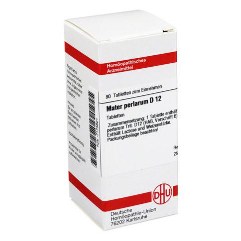 MATER PERLARUM D 12 Tabletten 80 Stück N1