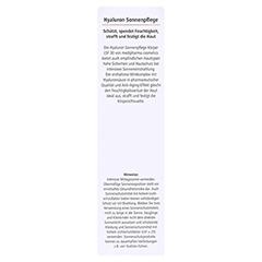 HYALURON SONNENPFLEGE Körper Creme LSF 30 150 Milliliter - Rückseite