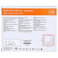 ALLEVYN Adhesive 10x10 cm haftende Wundauflage 10 Stück - Rückseite