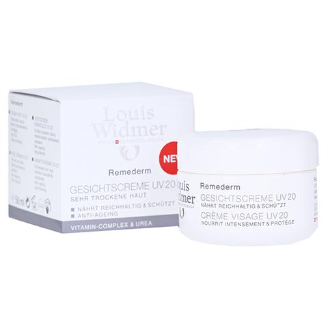 WIDMER Remederm Gesichtscreme UV 20 unparfümiert 50 Milliliter