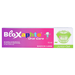 BloXaphte Oral Care Junior-Gel 15 Milliliter - Vorderseite