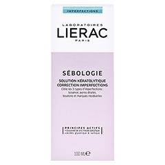 LIERAC Sébologie Keratolytische Lösung 100 Milliliter - Rückseite