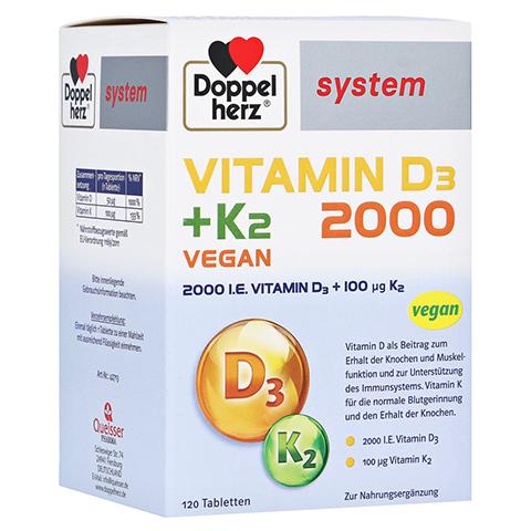 Doppelherz Vitamin D3 2000+K2 System Tabletten 120 Stück