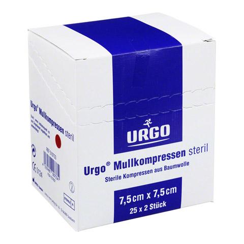 URGO MULLKOMPRESSEN 7,5x7,5 cm steril 25x2 Stück