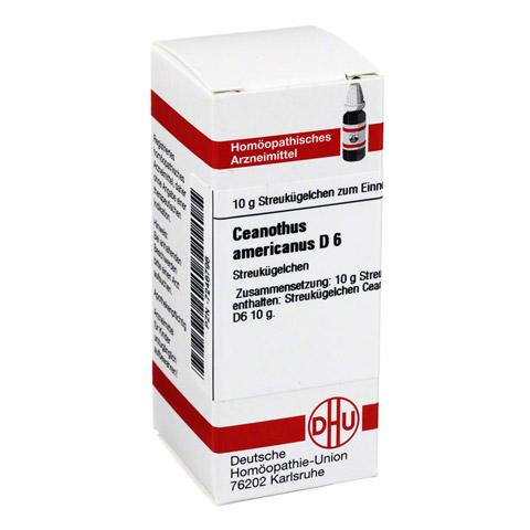 CEANOTHUS AMERICANUS D 6 Globuli 10 Gramm N1