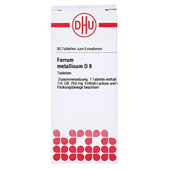 FERRUM METALLICUM D 8 Tabletten 80 Stück N1 - Vorderseite