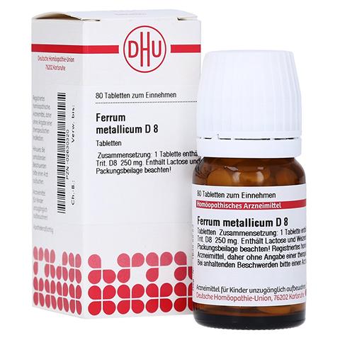 FERRUM METALLICUM D 8 Tabletten 80 Stück N1