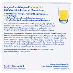 MAGNESIUM DIASPORAL 400 Extra Trinkgranulat 50 Stück - Rückseite