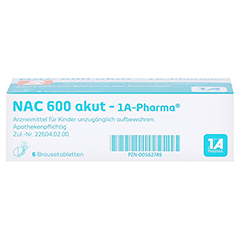 NAC 600 akut-1A Pharma 6 Stück - Unterseite